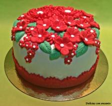 tarta-flores-rojas